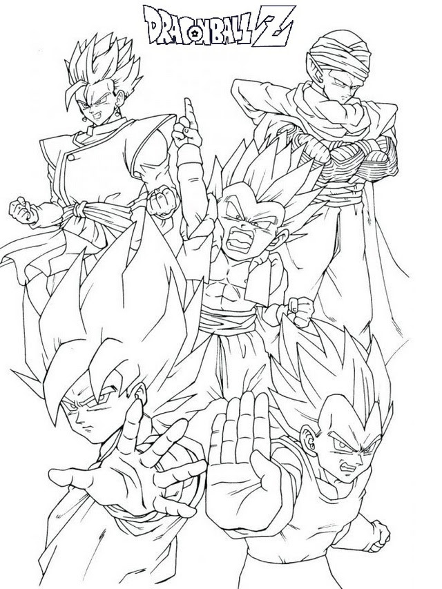 Dragon Ball Z Coloring Pages Printable - Coloring And Drawing