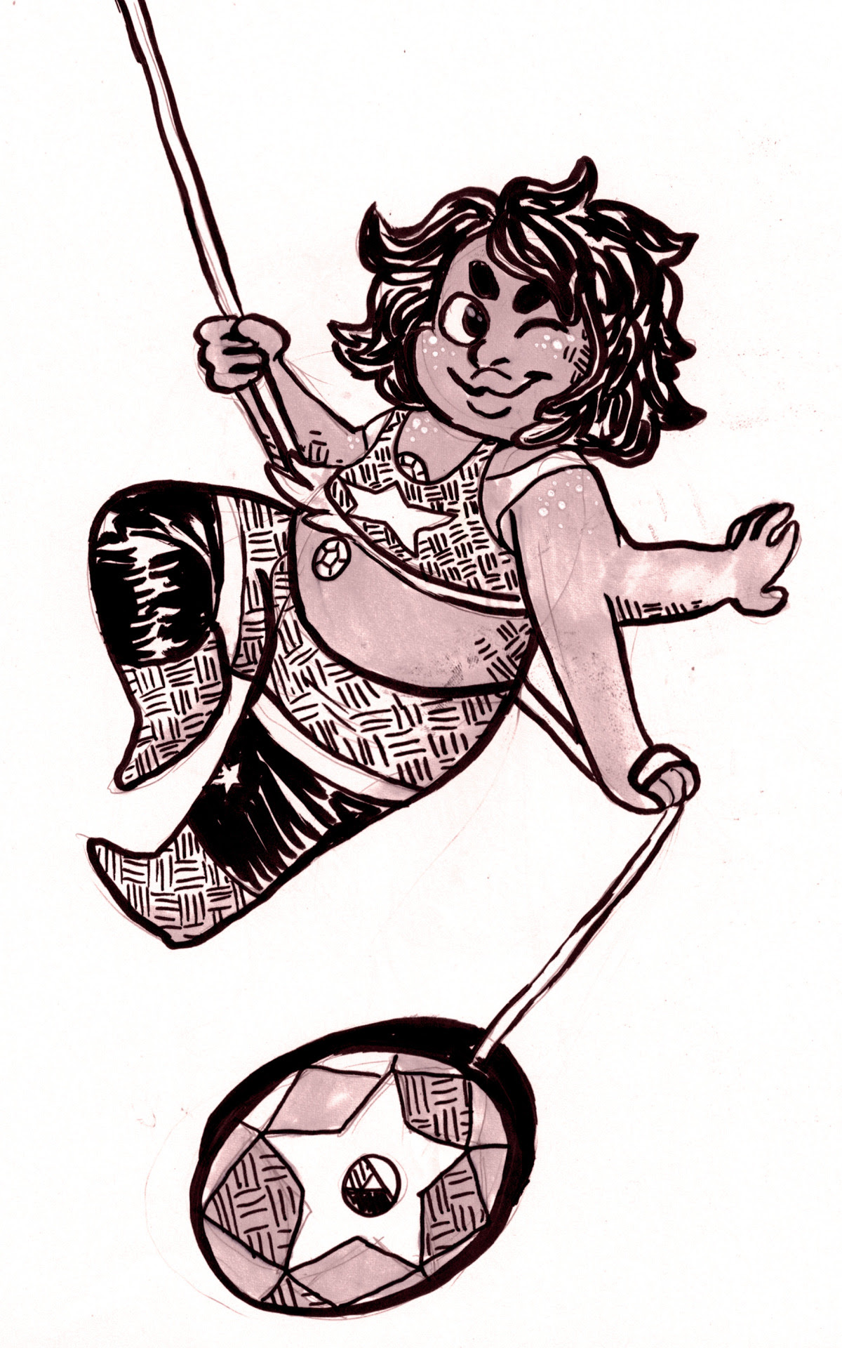 here's a smoky quartz for my day 10 inktober. sorry theyre late i've been rlly busy!