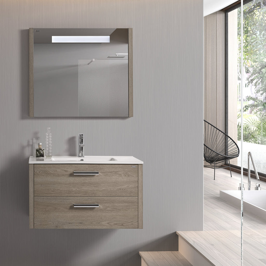 48 Led Backlit Bathroom Vanity Mirror Wall Mount Moon Serie Nova