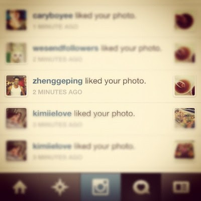 Zheng Ge Ping likes my photo leh! Lol!  (Taken with Instagram)