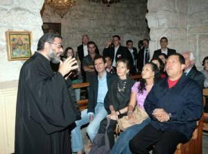 το ζεύγος Άσσαντ και οΤσάβεσ στην ελληνορθόδοξη μονή Αγίας Θέκλας 2010