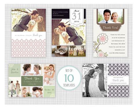 10 PSD Wedding thank you card templates. Mini Pack 4