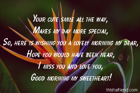 Good Morning Message For Boyfriend Your Cute Smile All The Way