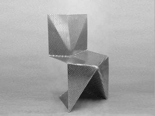 This aluminum chair by Tobias