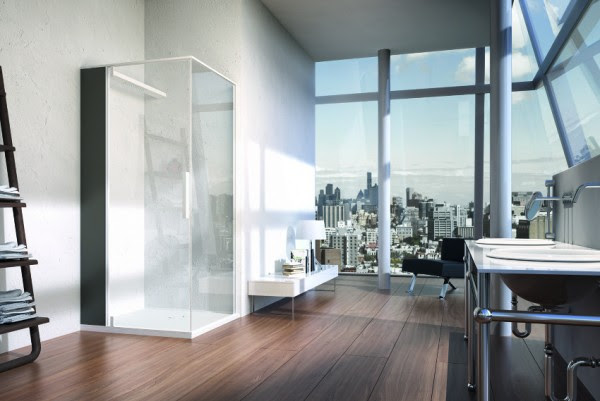 In an otherwise classic space, industrial and oriental themes are both popular choices for bathroom interiors. Exposed plumbing lends an authenticity to industrial styles and this communicates effectively with a bathroom's territorial glazing, while natural wood blends with porcelain, marble and slate organically for an oriental feel.