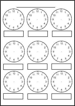 Free printable blank clock faces worksheets | Math thinks ...