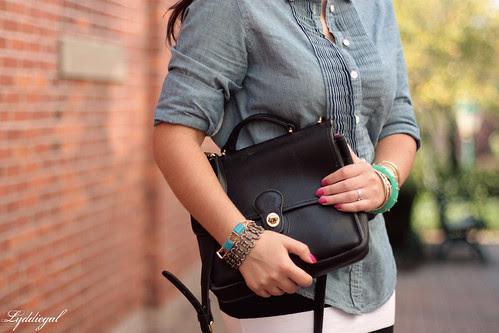 bag and bracelets