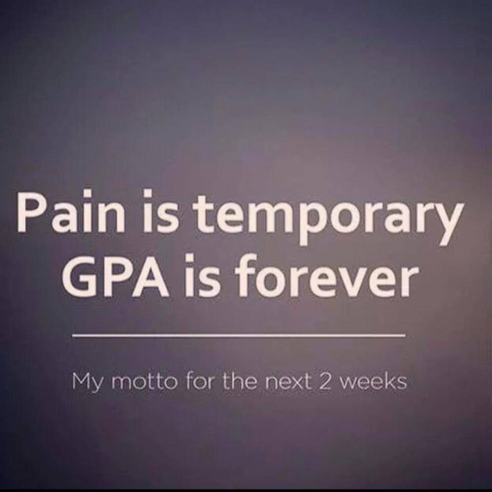 Image Pain Is Temporary Gpa Is Forever Getmotivated