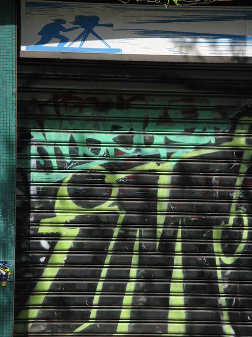 graffiti and a little cameraman, Manhattan, NYC