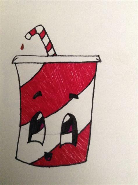 cute soda drawing easy