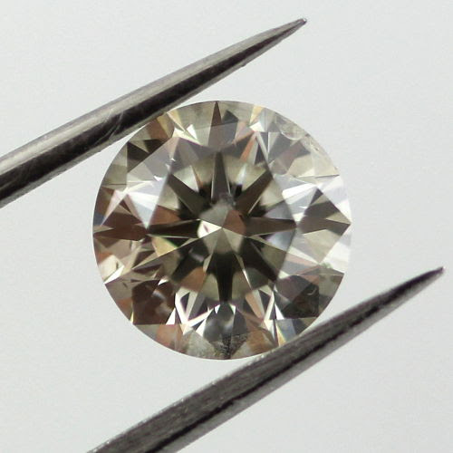 Fancy Gray Diamond, Round, 0.93 carat, SI2