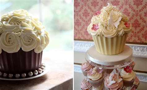 Giant Wedding Cupcakes