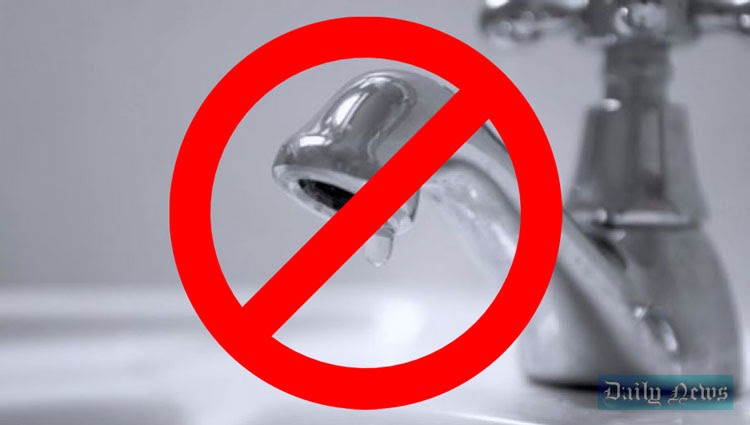 12-hour water cut in several areas on Feb. 28