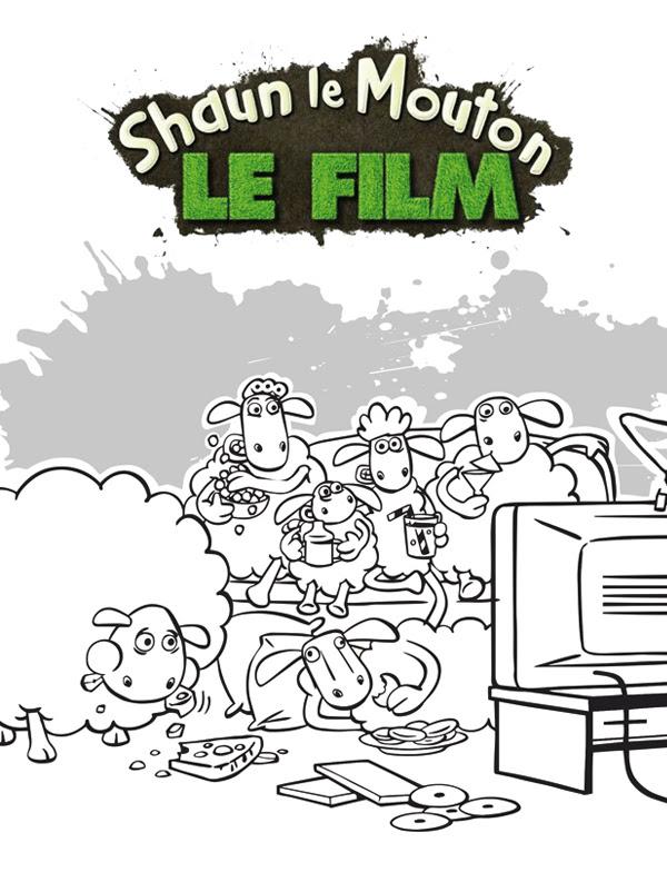 Coloriages Shaun Le Mouton Coloriages De Héros Et Dessins Animés