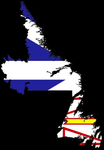 File:Flag-map of Newfoundland and Labrador.svg