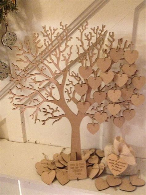 Wishing Tree Large Wooden Guest Book   Wedding