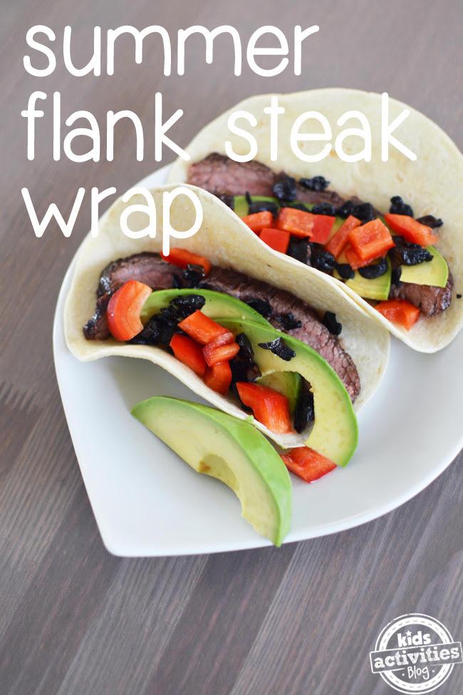 flank steak wraps