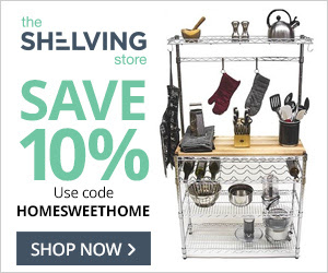 Save 10% On All Orders! Use code HOMESWEETHOME 11/10-11/30/17 at TheShelvingStore.com
