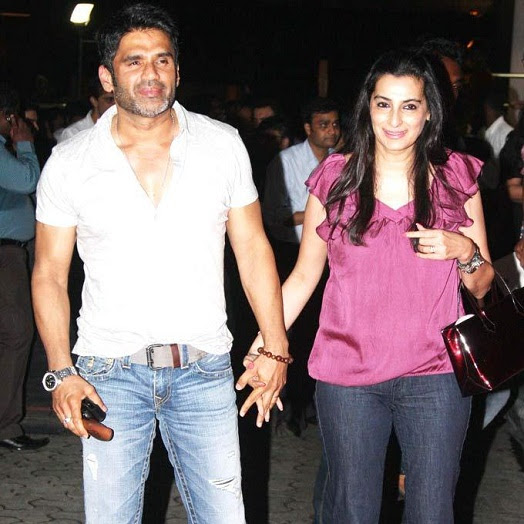 Image result for sunil shetty wife pic