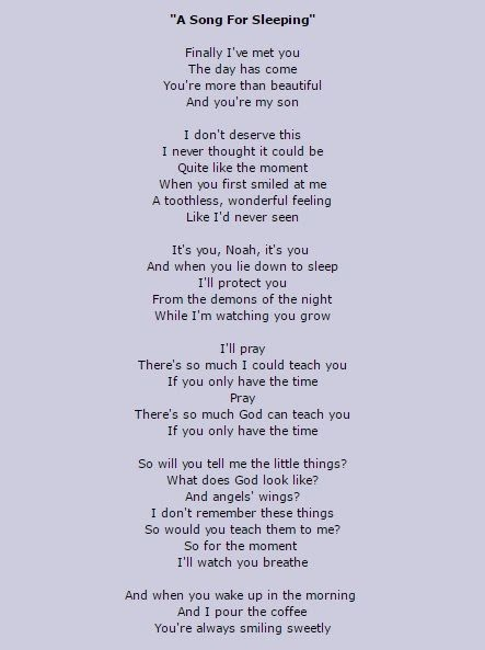 A Song For Sleeping Stone Temple Pilots Lyrics