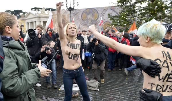 Ennesima protesta delle Femen