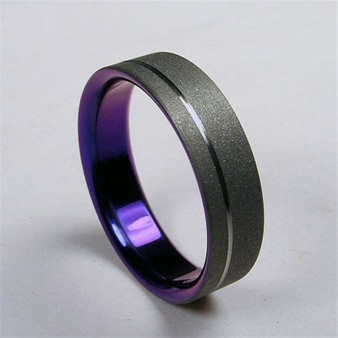 black titanium wedding rings for men Titanium Wedding