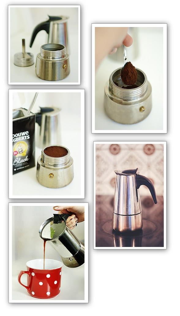 Wie man einen Espressokocher benutzt
