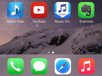 iPhone Home screen