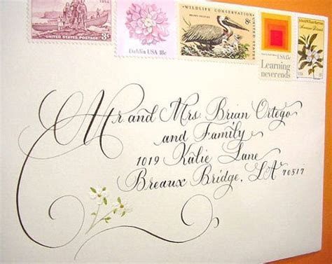great wedding calligraphy for addressing wedding
