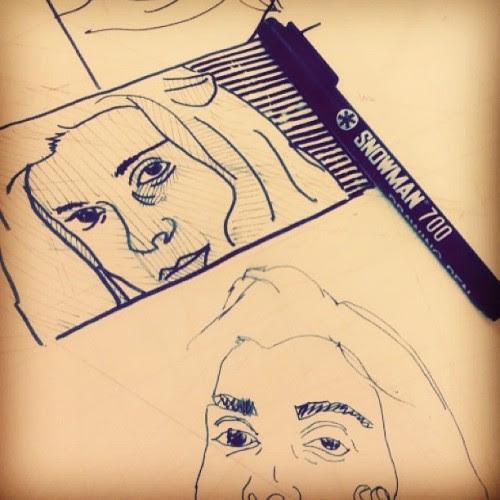 @beyzzzdogruer #woman #women #snowman #drawing #pen #gellaburaya