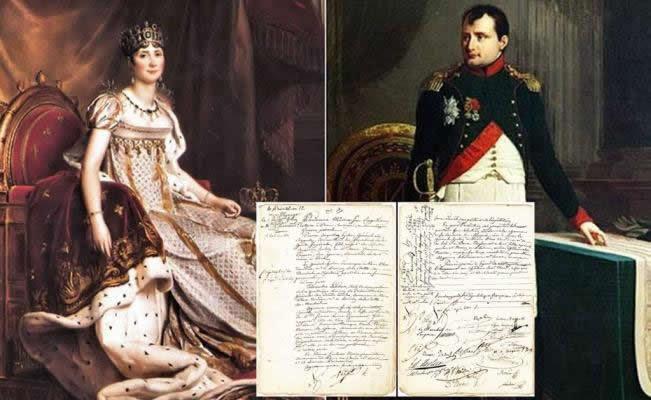 acta nupcial de jofesina y napoleon