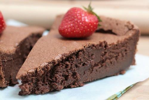 Détail mousseux au chocolat