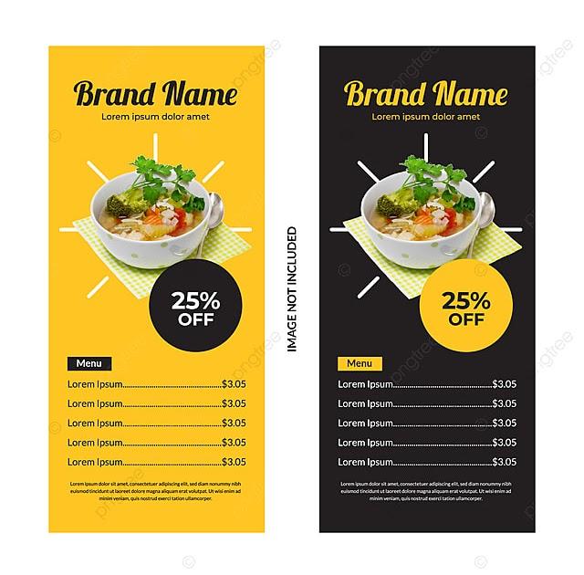 Template Banner Makanan - contoh desain spanduk
