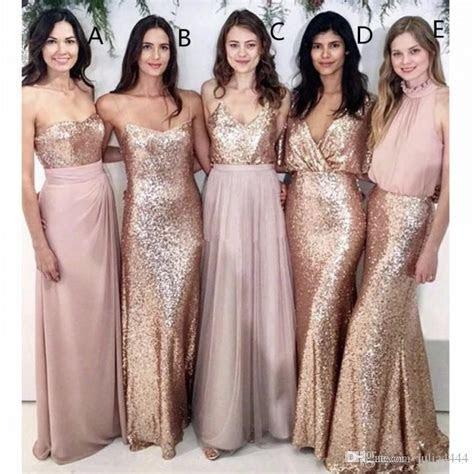 Modest Blush Pink Beach Wedding Bridesmaid Dresses with