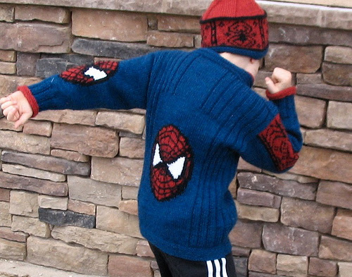 Spiderman Jacket Free Knitting Pattern and more super hero knitting patterns