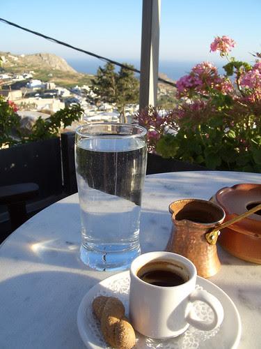 Greek Coffee from Pyrgos, Santorini