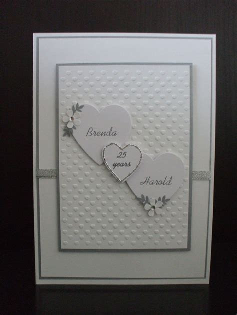 silver wedding card   Cards   Wedding cards, 50th