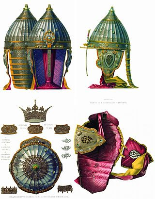 """State helmet"" on picture of 19th century"