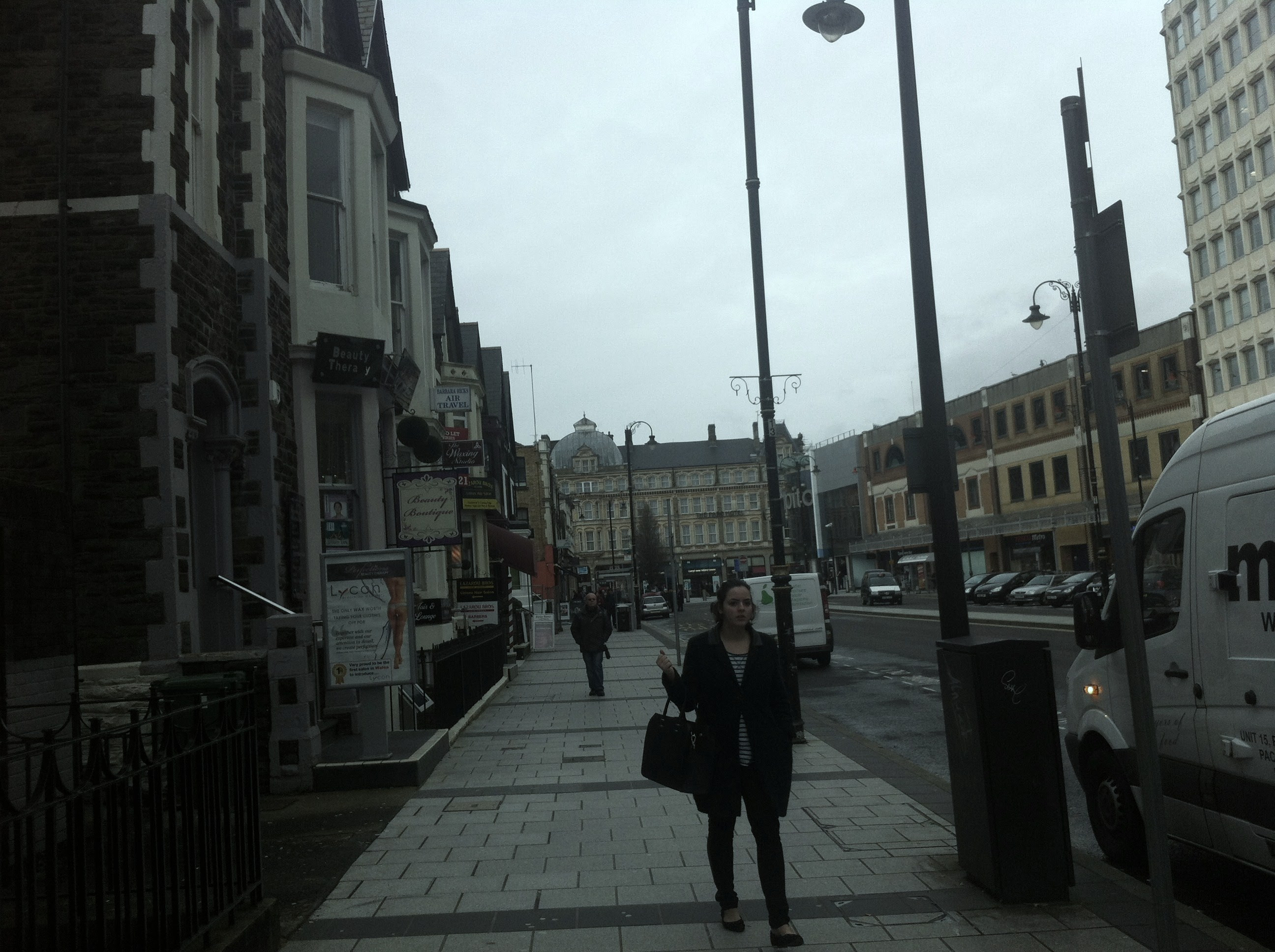 A very common looking street, very British. There are some cool spas and restaurants in this area of town