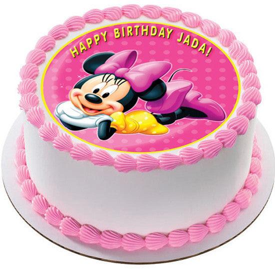 Minnie Mouse Edible Birthday Cake Or Cupcake Topper Edible Prints
