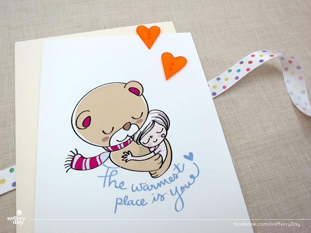 MerryDay bear hug card