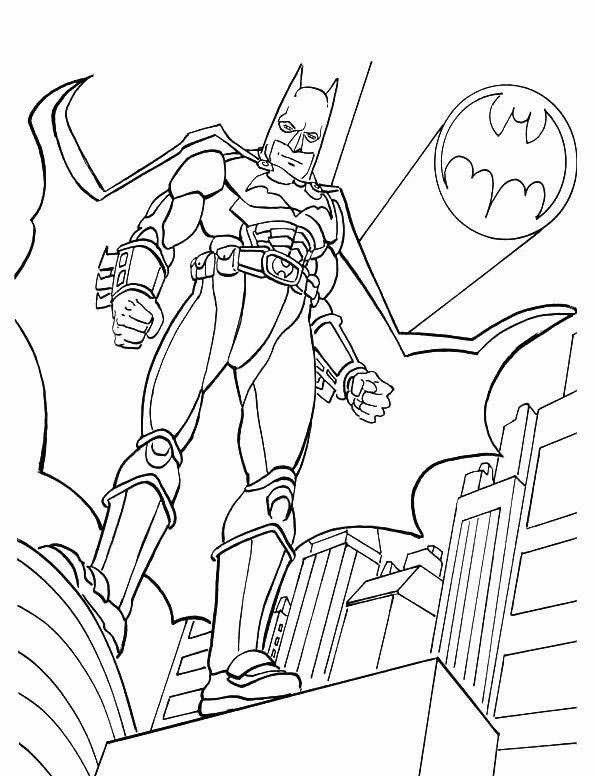 Batman Boyama Sayfasi 4 Okul öncesi Etkinlik Faliyetleri