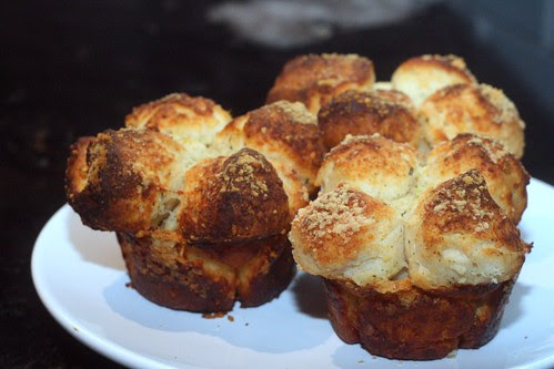 Parmesan Garlic Monkey Muffins