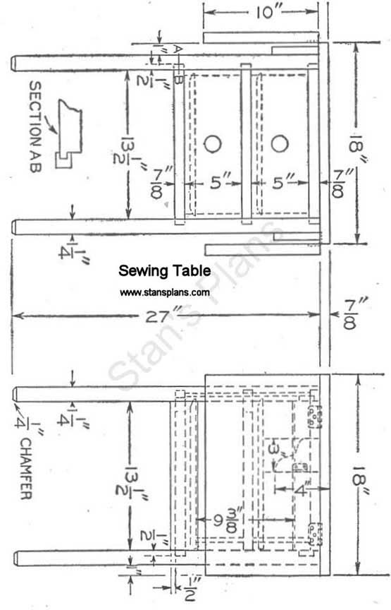 Sewing Table Plans Free.Sewing Table Woodworking Plans Free Complete Fine Woodworking