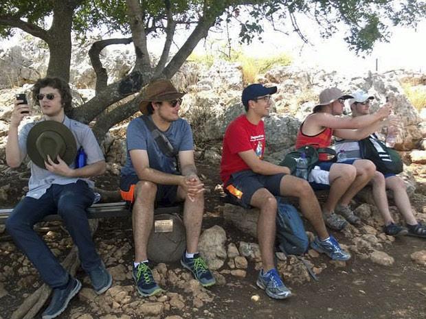 Estudantes da Universidade Michigan State foram para Israel em um curso de verão  (Foto: Becca Rosenblat/Universidade Michigan State/AP)