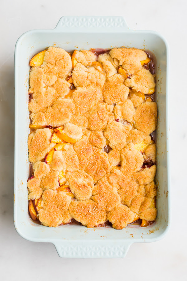 This uncomplicated together with amazing peach cobbler is loaded alongside fresh slowly vegan peach cobbler