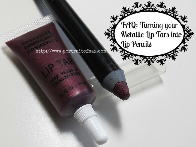 Black Metal Dahlia Lip Tar and Lip Pencil
