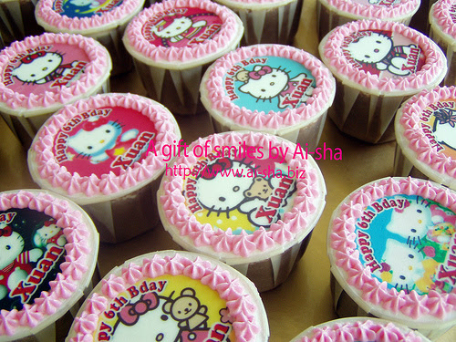Birthday Cupcakes Edible Image Hello Kitty