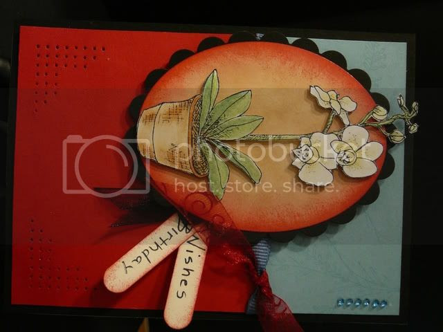 Handmade card using Gina K Designs stamps - Stamp set: Botanical Dreams by Asela Hopkins