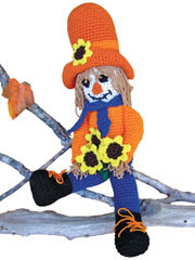 Clint the Cowboy Scarecrow Crochet Pattern Pack
